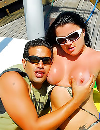Curvy Brazilian sex on a boat