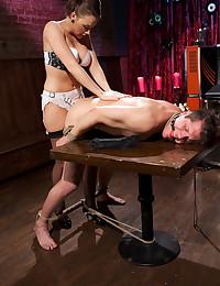 Luscious Brunette Fucks Her Sex Slave