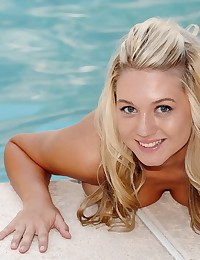 Alison Angel - Alluring blonde goddess exposes her divine breasts