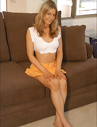 XXX Raimi - Alluring blonde bunny relaxing on the sofa