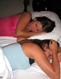 Megan QT - Two girls in cute pajamas are sleeping together