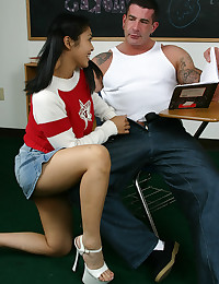 Busty Asian Student Fucked In Classroom