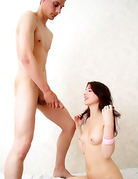 His sweet young GF likes dick