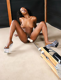 Black girl dildo machine sex