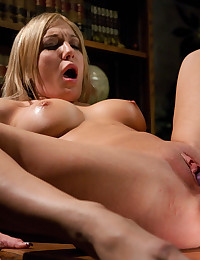 Cute girl takes toy sex