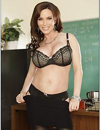 Teacher with great body strips