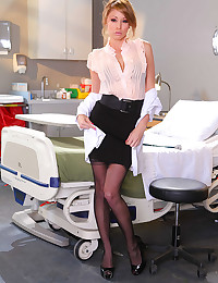 Hot doctor pornstar gets naked