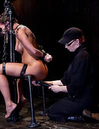 Extreme bondage and pain