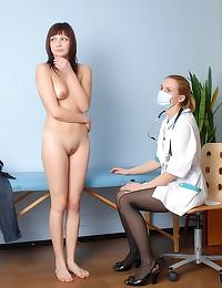 Medical exam for teen girl