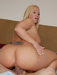 Sporty Looking Blond Cougar Pumped