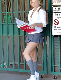 Alison Angel - Very sexy pigtailes schoolgirl teases with her killer booty