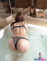 Mariah Spice - Pretty Latina in the hot tub getting warm and bubbly