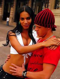 Latin shemale hot anal sex