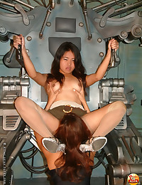 Two Lovely Asians Playing Naughty