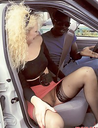 Horny retro black guy fucks hot blonde chick
