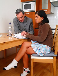 Horny teacher turns one of the sexiest coeds in his class into a filthy-minded, cock-addicted slut