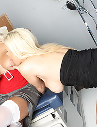 Doctor?s office with blonde sluts