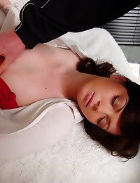 Napping girl shaved pussy sex