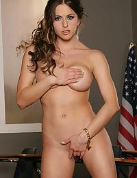 Beautiful schoolgirl solo striptease