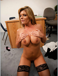 Milf fucked on his desk