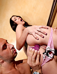 Tiny Brunette Teen Gets Played With