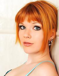 Redhead wet in shower