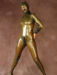 Head to toe latex catsuit