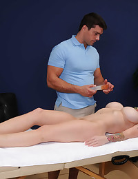 Oiled Blonde Milf Gets Extra Treatment
