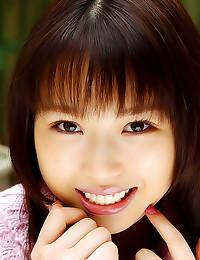 Japanese girl in sweater upsk...