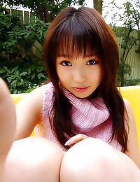 Japanese girl in sweater upsk...