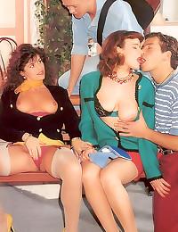 Great vintage group sex