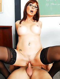 Milf redhead teacher has hot ...