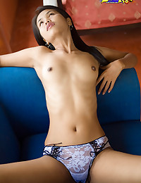 Asian in bikini top