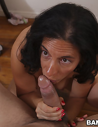Milf with cum on her face