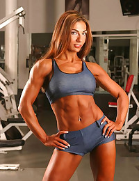 Big breasted well known muscle women.