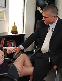 Naughty Blonde Office Babe Valerie