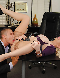 Naughty Blonde Office Babe Valerie