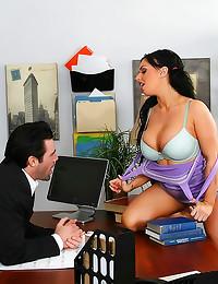 Big tits bimbo slut arouses h...