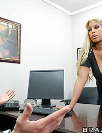 Bridgette is furious because her bonus is low and decides to confront her boss. He explains that there is simply not enough money in the company. Bridgette feels that if she gives her boss what he wants, then she might have a chance at that bigger bonus.