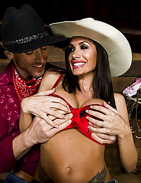Busty Country Girl Randi Jizzed On