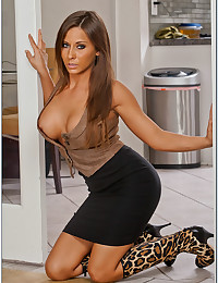 Seductive Officer Babe Madison Ivy Teases