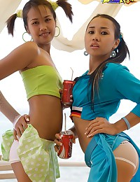 Sexy Asians playing together