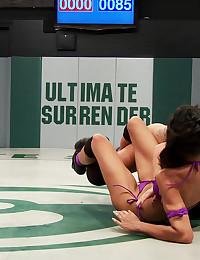 Fit Lesbians Have Naked Wrestling Match
