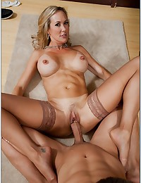 Office Cougar Brandi Bounces On Cock