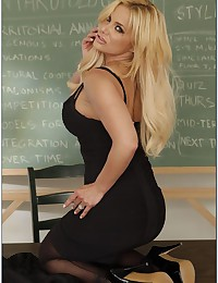 Busty Blonde Teacher Shyla Teaches Lesson