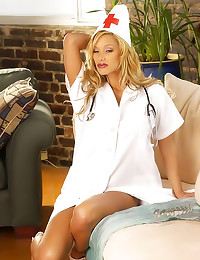 Shyla Stylez as a sexy nurse
