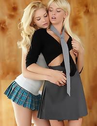 Blonde teen schoolgirls eroti...