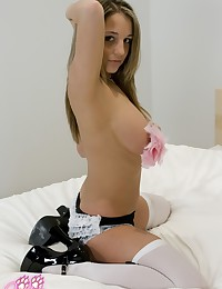 Nice French maid with big tit...