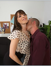 Horny Office Babe In Sexy Stockings