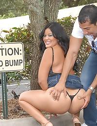 Voluptuous Latina Candy Rammed Hard